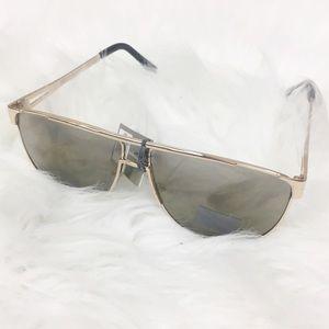 City Shades   Flat Top Gold Sunglasses